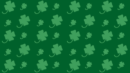 seamless pattern for St. Patrick's Day with shamrock