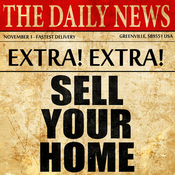 sell your home, article text in newspaper