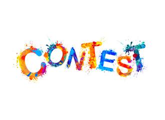 Contest. Splash paint word