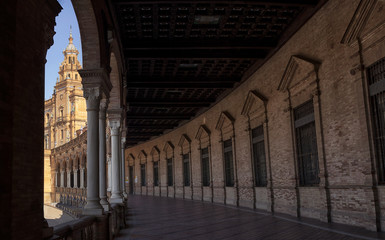 Seville, old town, historic buildings. Spain.