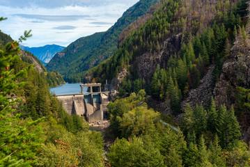 Gorge Dam on the Skagit River in North Cascades National Park, Washington