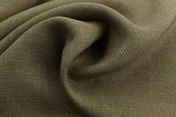 khaki background luxury cloth or wavy folds of grunge silk texture satin velvet
