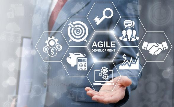Agile development software business web computer agility nimble quick fast start up concept