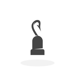Pirate hook Icon. Vector logo on white background