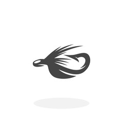 Fishing lure Icon. Vector logo on white background