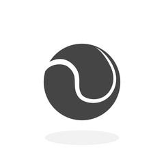 Tennis ball Icon. Vector logo on white background