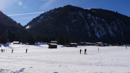 Langlauf im Winter
