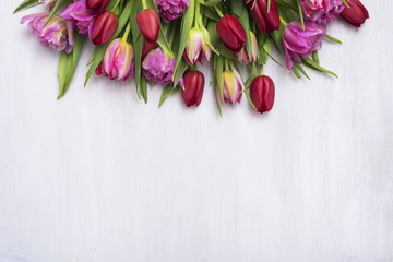 Flower header with copy space