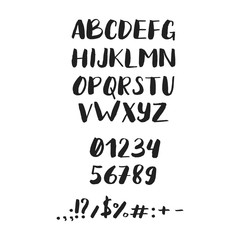 Handwritten brush style modern calligraphy cursive typeface. Brush font
