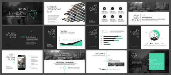 Elements for infographics and presentation templates. Wall mural