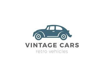 Vintage car Logo design. Retro vehicle Logotype icon