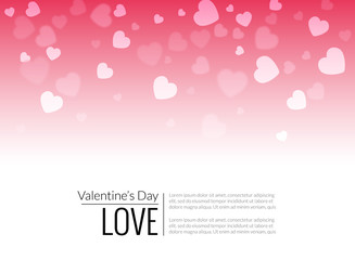 Red Valentine holiday background with hearts