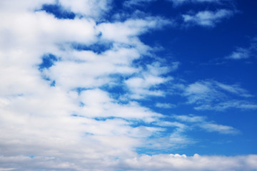 blue sky blue clouds background