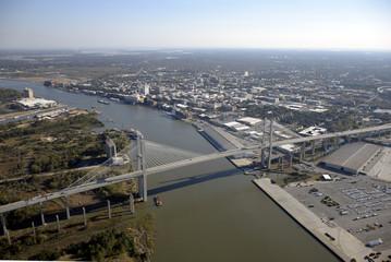 Savannah Bridge Aerial View