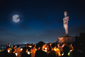 Magha Puja Day, there is traditionally lighting of candle, circumambulation and meditation to pay homage to the Lord Buddha.