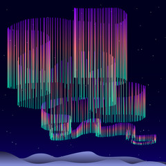 Aurora Borealis  Background  - vector illustration