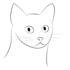 Cat's head - vector illustration