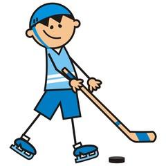 hockey player, vector icon