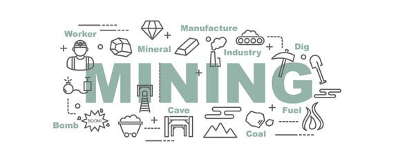 mining vector banner