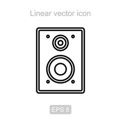 Speakers. Linear vector icon.