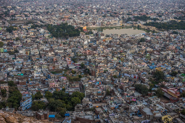 Aerial view of jaipur taken from Nahargarh Fort