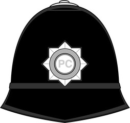 Classic Cartoon British Policemans Hat
