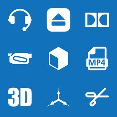 Set of 9 Video filled icons
