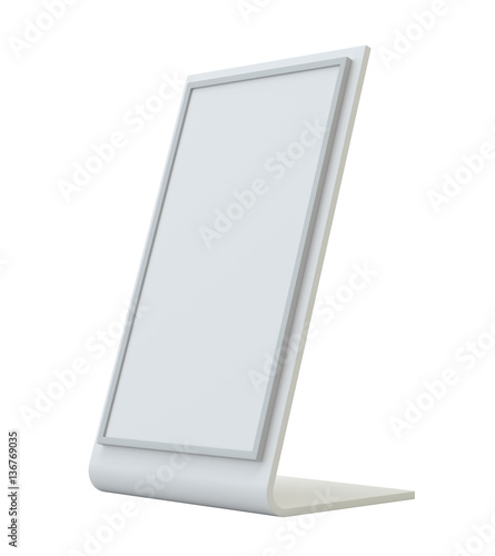 Blank holder clear brochure holding empty paper for Paper brochure holder template