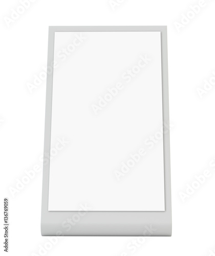 Plastic holder brochure holding empty paper template for Cardboard brochure holder template