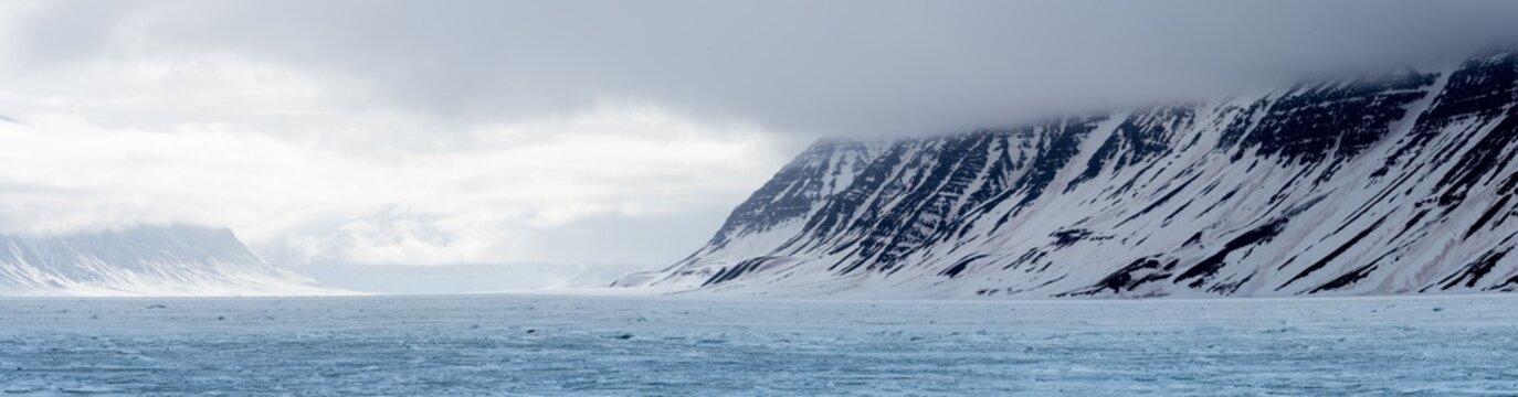 Svalbard mountain panorama