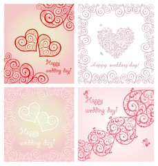 Beautiful wedding lacy cards