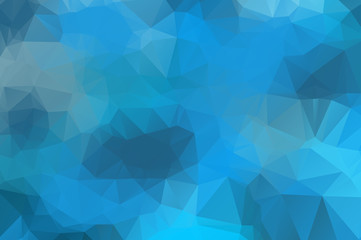 abstract blue colorful polygonal background for web banner