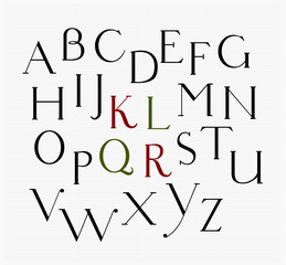 Antiquarian, a vector serif font, all caps, both for print and web