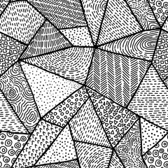 Seamless black and white pattern. Geometric abstraction style do