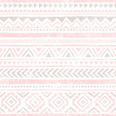 Seamless vintage pattern. Grungy texture. Ethnic and tribal moti