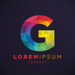 Geometric Letter G Icon and Logo Template.