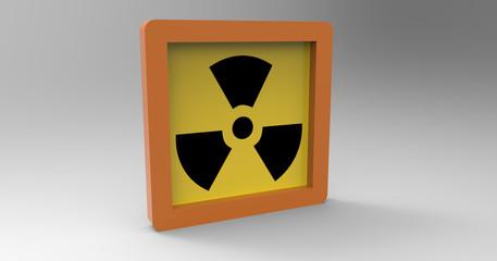 3D Illustration Of A Radiation Sign
