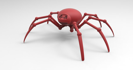 3D Illustration Of A Robotic Mechanized Spider