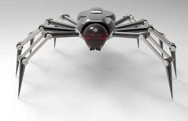 3D Illustration Of A Robotic Mechanized Spider