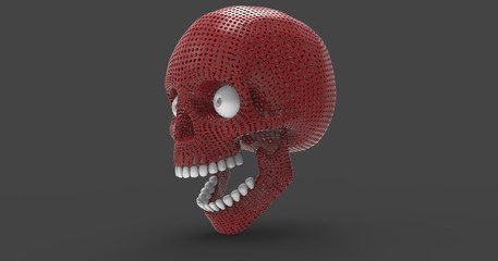 3D Illustration Of An Isolated Human Skull