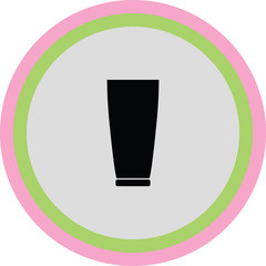 drinking glass vector icon