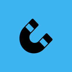 magnet icon. flat design