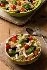 rustic farfalle salad