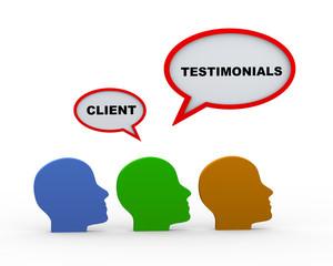 3d client testimonials heads