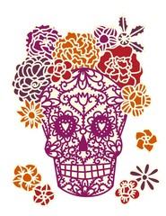 Sugar Skull Day of the Dead Dia de los Muertos