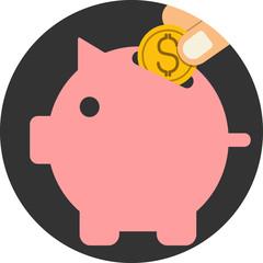 Piggy bank .Vector icon