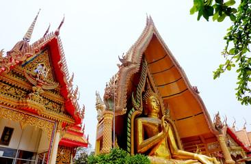 Big Buddha statue at Tiger Cave Temple (Wat Tham Sua), Wat Tham Sua is a public temple in Kanchanaburi, Kanchanaburi Province, Thailand.