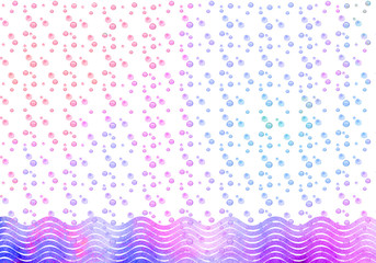 Abstract geometric pattern with blue wave.