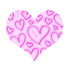 Pink heart with abstract pattern