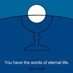 Inspirational symbol of Holy Communion